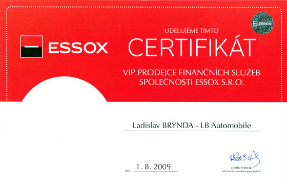 LB Automobile Certifikát GE Money Auto